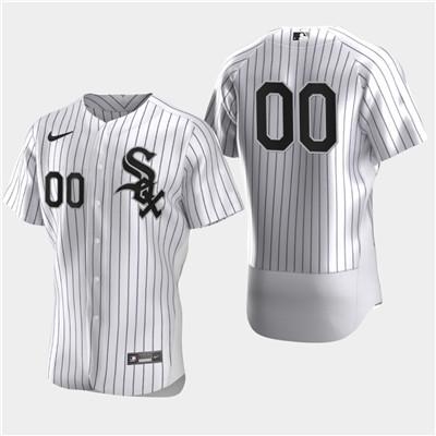Men's Chicago White Sox Custom Nike White Flexbase Jersey