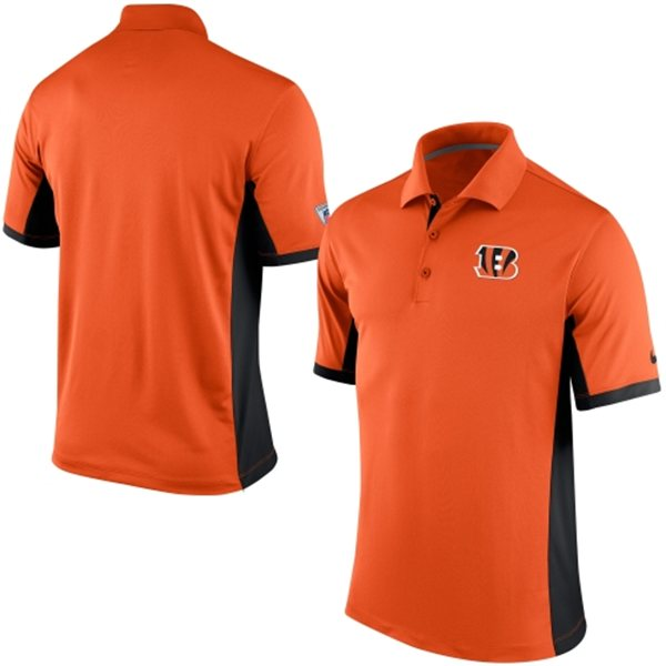 Men's Cincinnati Bengals Nike Orange Team Issue Performance Polo