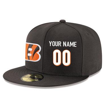 Men's Cincinnati Bengals brown Color Snapback Custom Hat (Stitched any name&number)