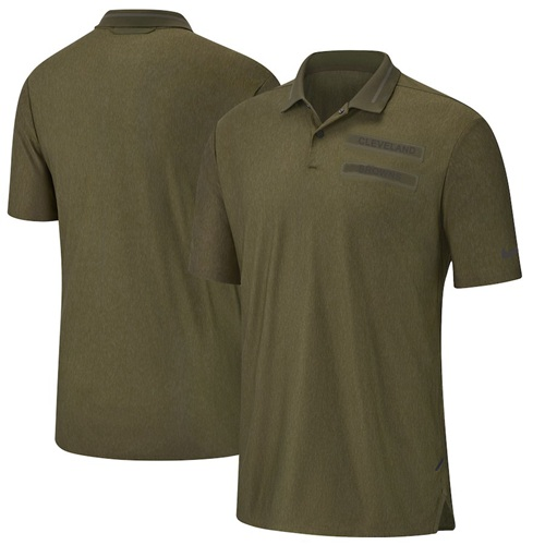 Men's Cleveland Browns Salute to Service Sideline Polo Olive