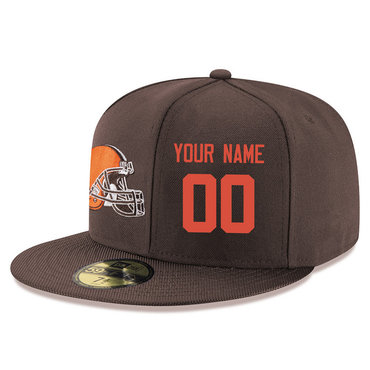Men's Cleveland Browns brown Color Snapback Custom Hat (Stitched any nameνmber)