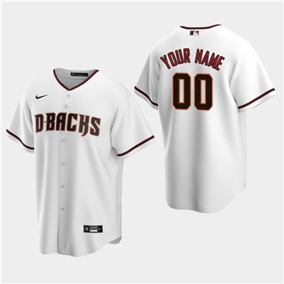 Men's Custom Arizona Diamondbacks White Home Replica Jersey
