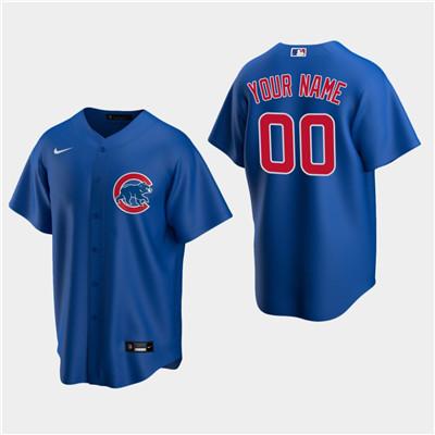 Men's Custom Chicago Cubs Royal Alternate Replica Jersey