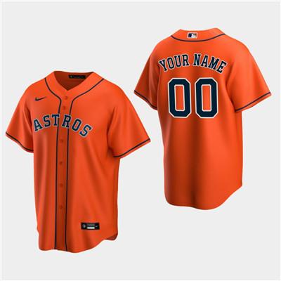 Men's Custom Houston Astros Orange Alternate Replica Jersey