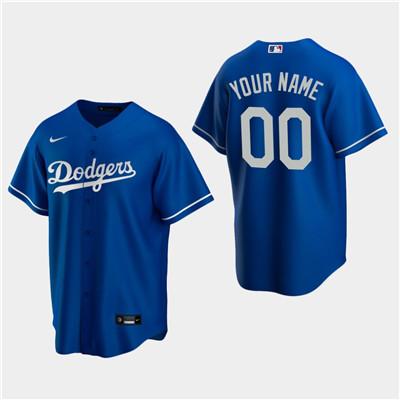 Men's Custom Los Angeles Dodgers Royal Alternate Replica Jersey