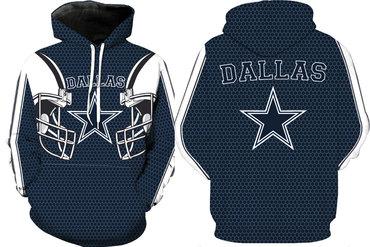 Men's Dallas Cowboys  Pullover Hoodie Blue