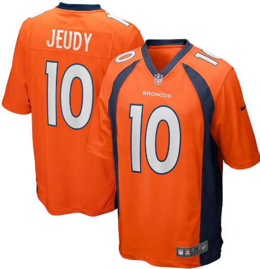 Men's Denver Broncos #10 Jerry Jeudy Orange 2020 NFL Draft Vapor limited Jersey