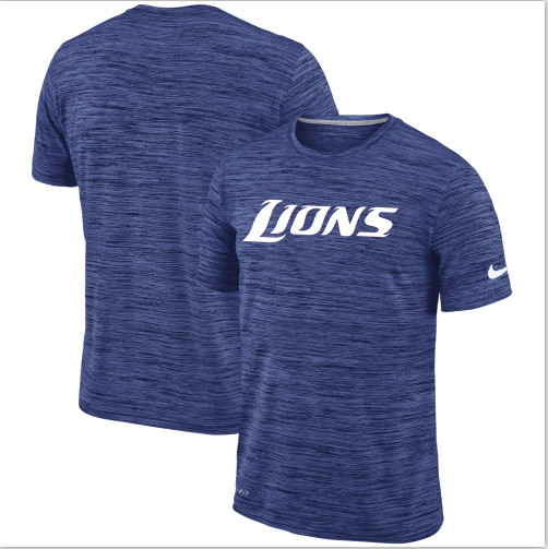 Men's Detroit Lions Nike Royal Velocity Performance T-Shirt