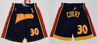 Men's Golden State Warriors Nike #30 Stephen Curry Black Basketball Shorts