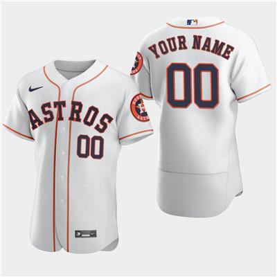 Men's Houston Astros Custom Nike White Flexbase Jersey