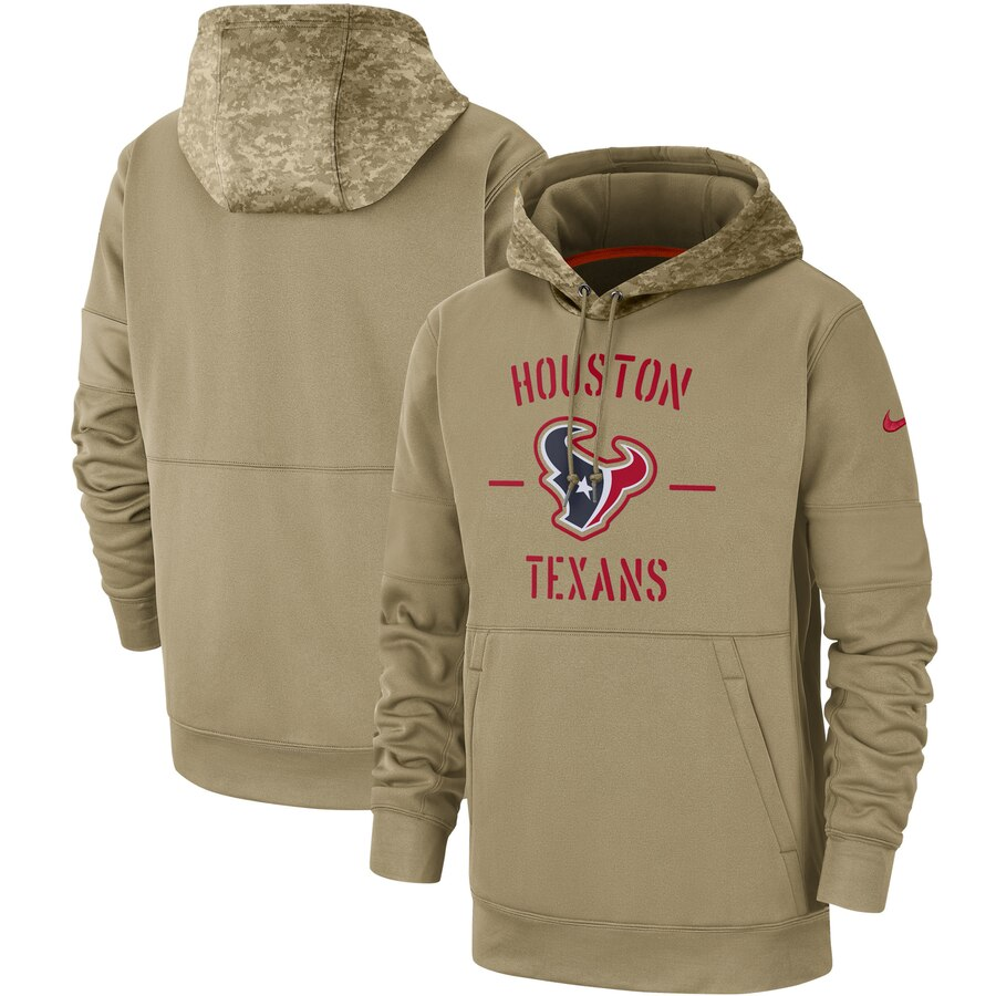 Men's Houston Texans 2019 Salute To Service Sideline Therma Pullover Hoodie