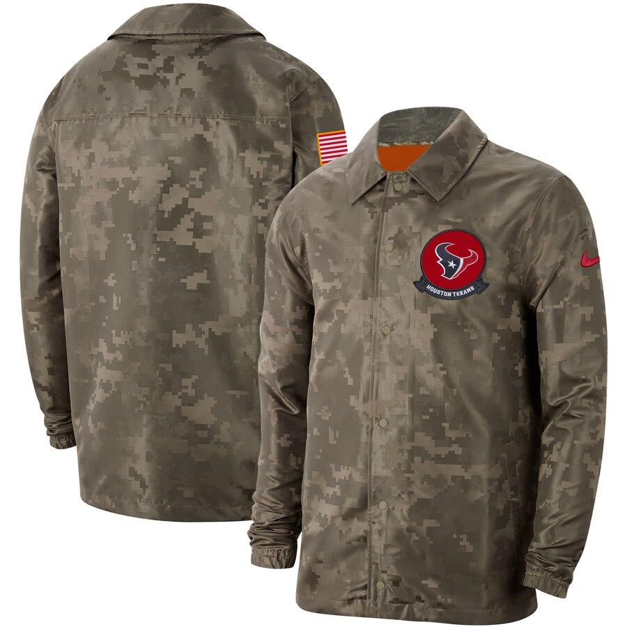 Men's Houston Texans Nike Camo 2019 Salute To Service Sideline Full Zip Lightweight Jacket