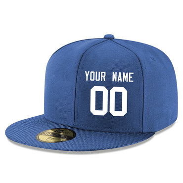 Men's Indianapolis Colts Blue Color Snapback Custom Hat (Stitched any name&number)