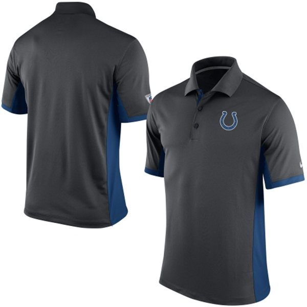 Men's Indianapolis Colts Nike Charcoal Team Issue Performance Polo