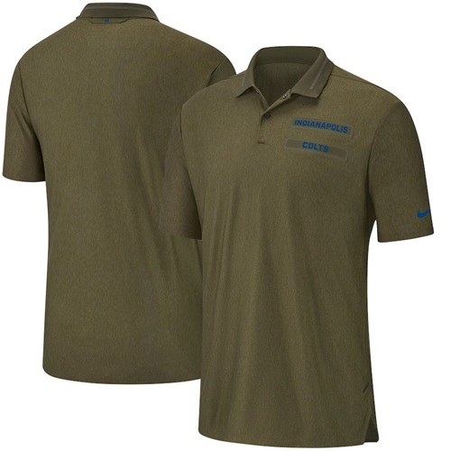 Men's Indianapolis Colts Salute to Service Sideline Polo Olive