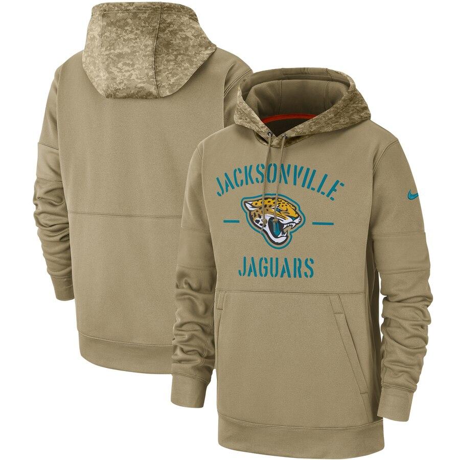 Men's Jacksonville Jaguars 2019 Salute To Service Sideline Therma Pullover Hoodie