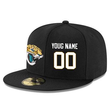 Men's Jacksonville Jaguars Black Color Snapback Custom Hat (Stitched any name&number)