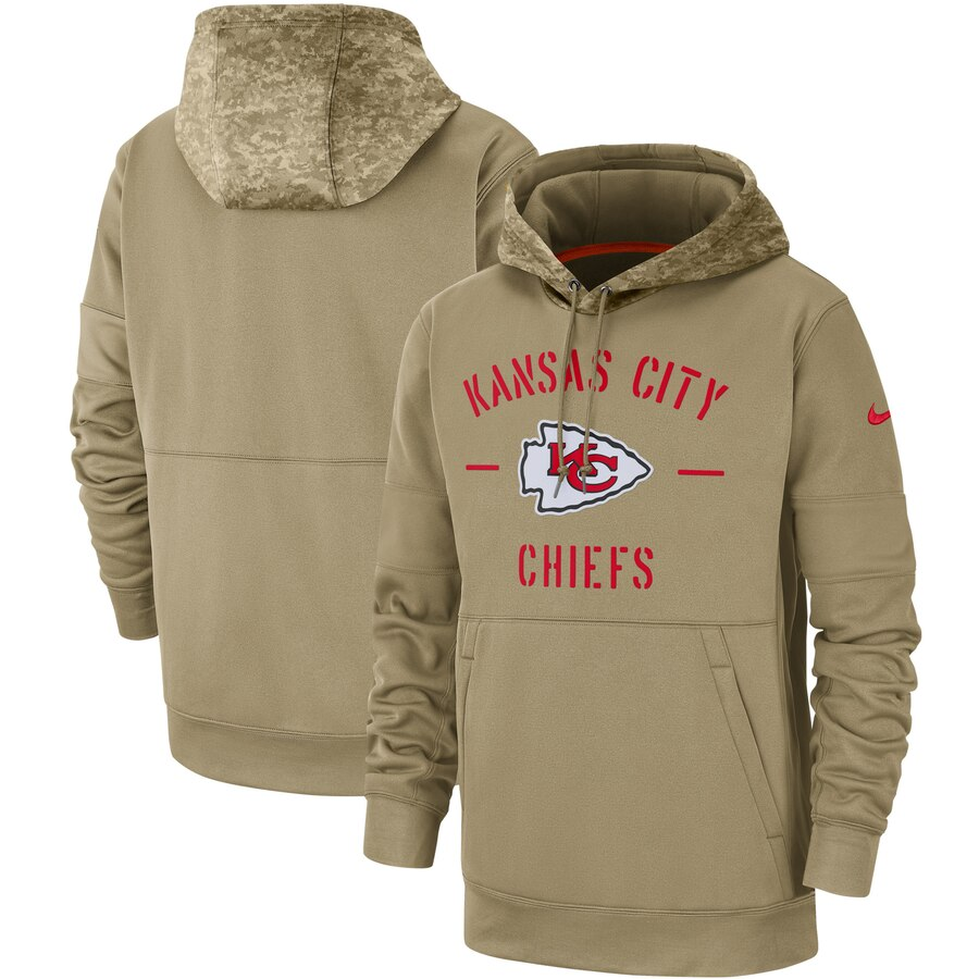 Men's Kansas City Chiefs 2019 Salute To Service Sideline Therma Pullover Hoodie