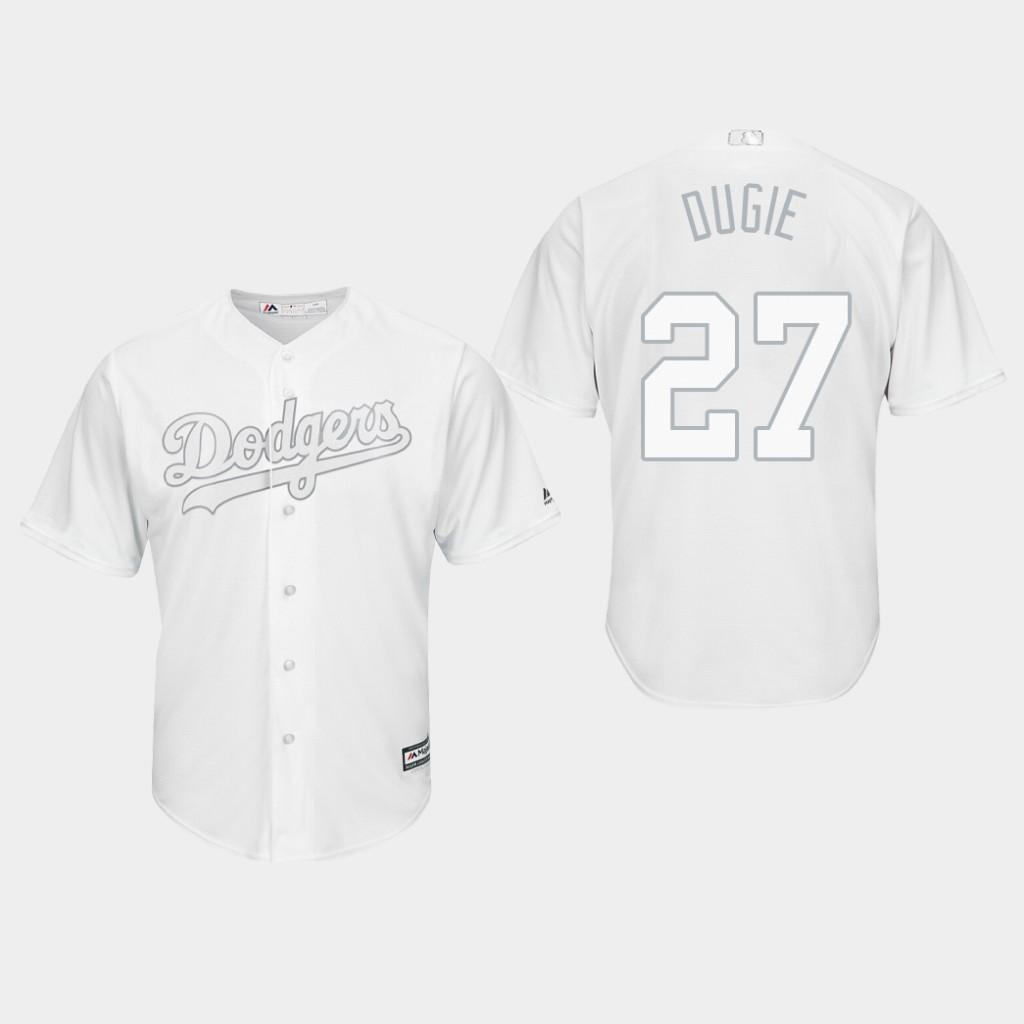 Men's Los Angeles Dodgers Alex Verdugo #27 White 2019 Players' Weekend Dugie Jersey