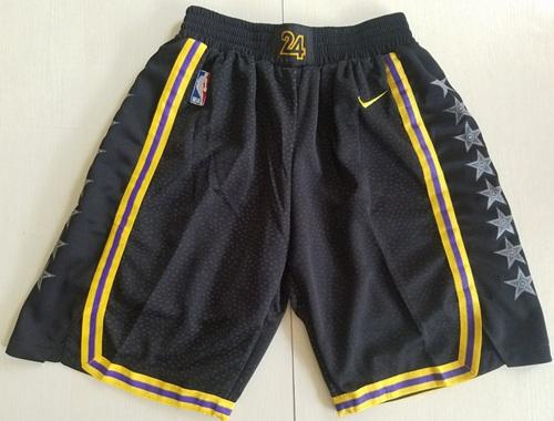 Men's Los Angeles Lakers Nike Black City Edition Swingman Performance Shorts