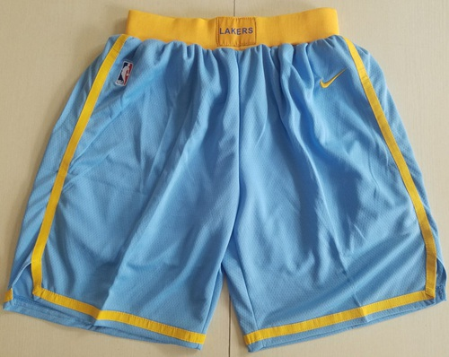 Men's Los Angeles Lakers Nike Royal Blue Hardwood Classics Swingman Performance Shorts