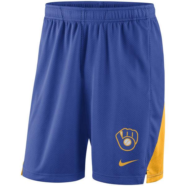 Men's Milwaukee Brewers Nike Royal Franchise Performance Shorts