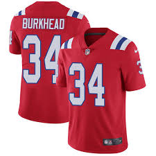 Men's New England Patriots #34 Rex Burkhead Red Vapor Limited Jersey