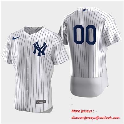 Men's New York Yankees Custom Nike Flexbase White Jersey