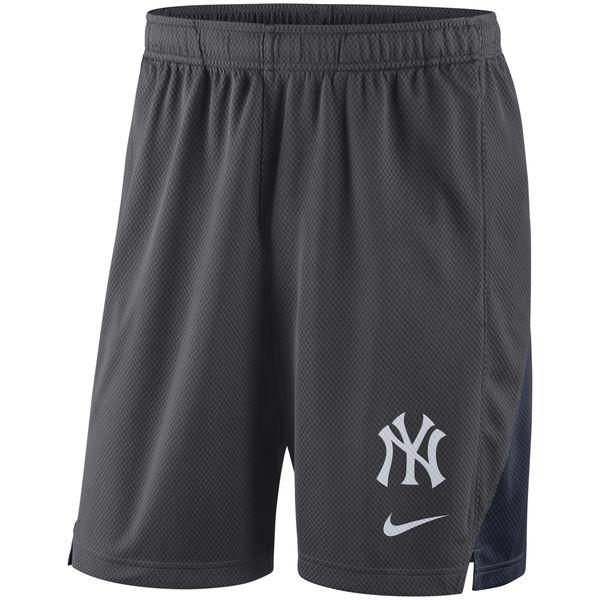 Men's New York Yankees Nike Anthracite Franchise Performance Shorts