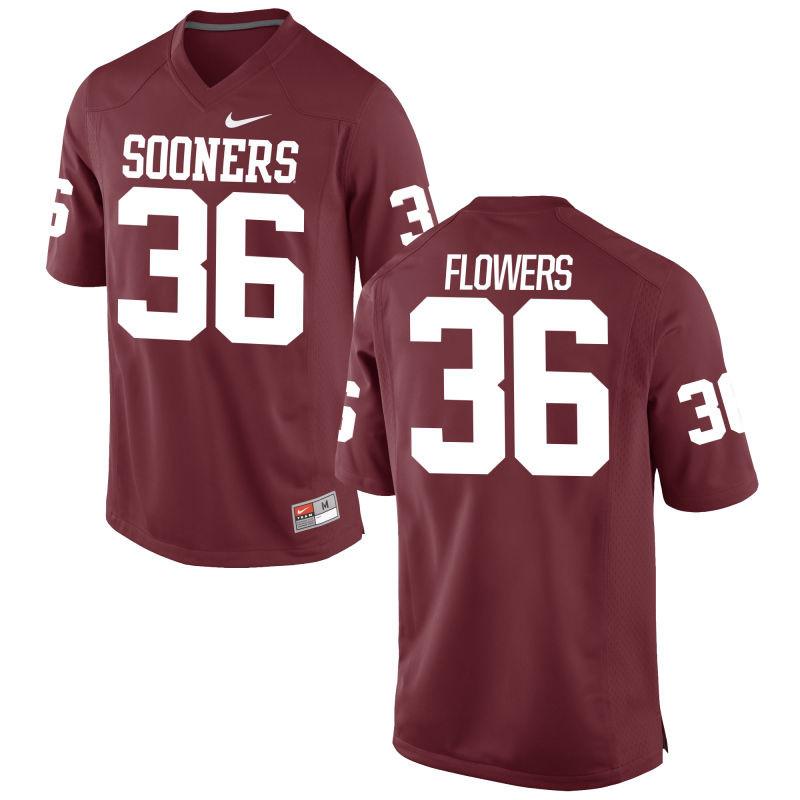 Men's Nike Dimitri Flowers Oklahoma Sooners #36 Limited Cardinal Alumni Football Jersey