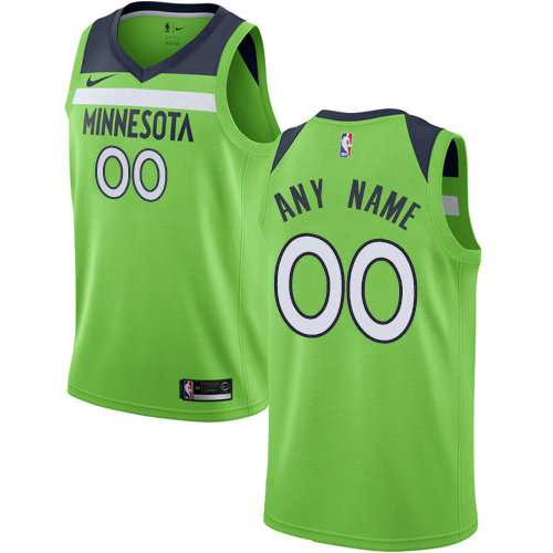 Men's Nike Minnesota Timberwolves Customized Authentic Green NBA Statement Edition Jersey