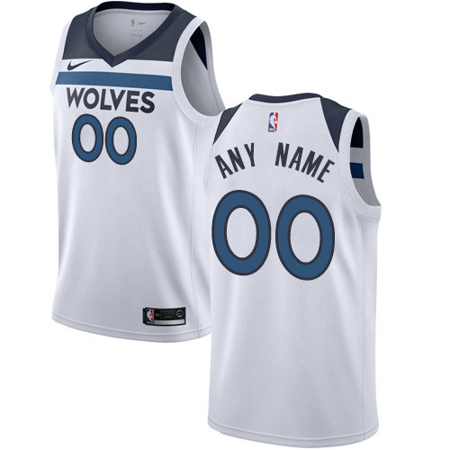 Men's Nike Minnesota Timberwolves Customized Authentic White NBA Association Edition Jersey