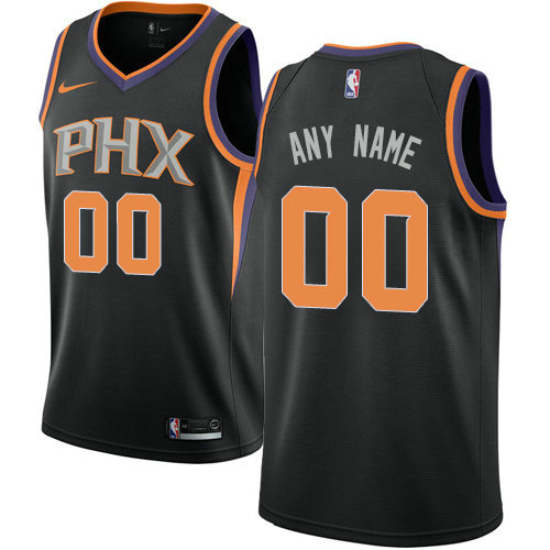 Men's Nike Phoenix Suns Customized Swingman Black Alternate NBA Statement Edition Jersey