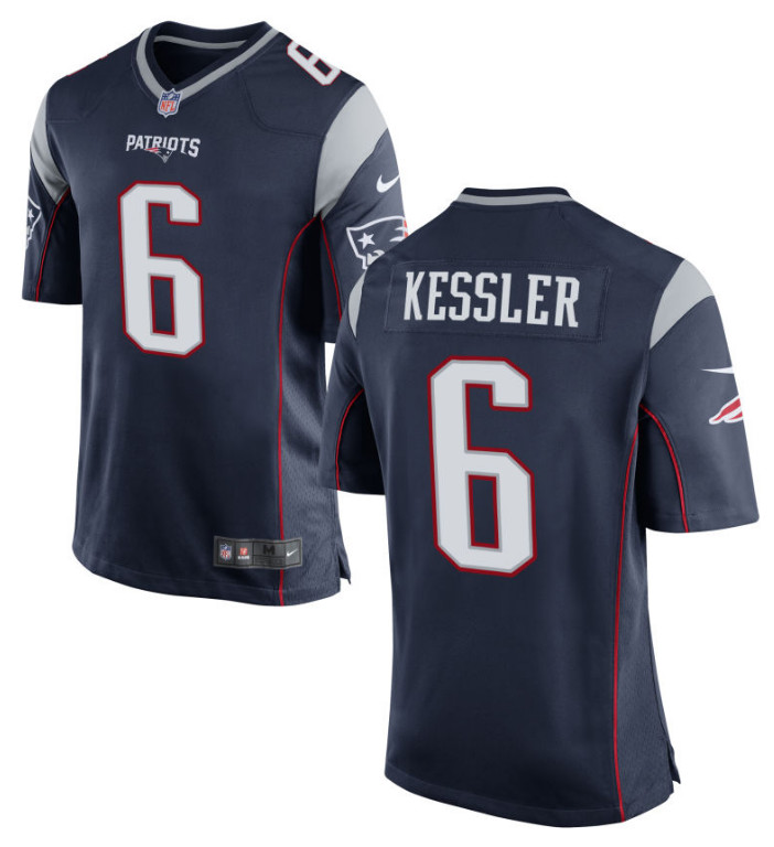 Men's Patriots #6 Cody Kessler Navy Blue Team Football Vapor Untouchable Limited Jersey
