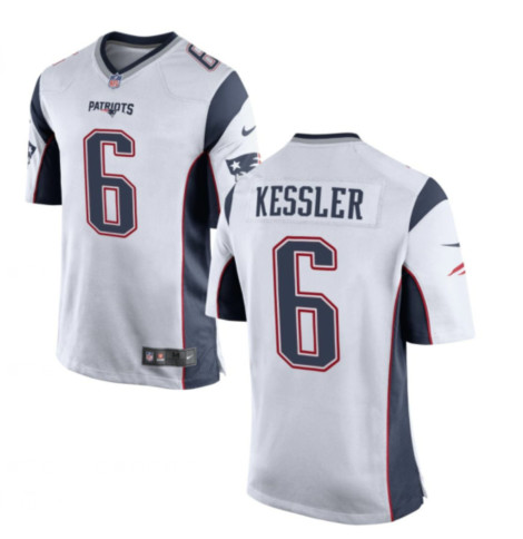 Men's Patriots #6 Cody Kessler Navy White Team Football Vapor Untouchable Limited Jersey