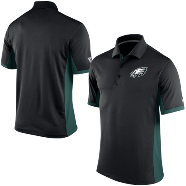 Men's Philadelphia Eagles Nike Black Team Issue Performance Polo