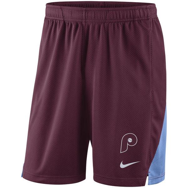 Men's Philadelphia Phillies Nike Maroon Franchise Performance Shorts