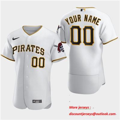 Men's Pittsburgh Pirates Custom Nike Flexbase White Jersey