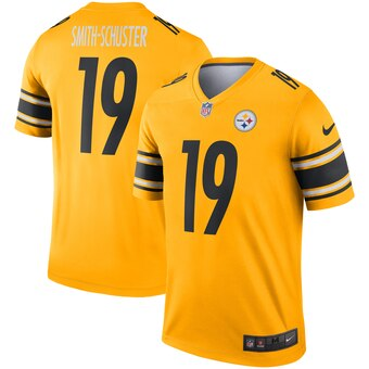 Men's Pittsburgh Steelers #19 JuJu Smith-Schuster Gold Inverted Jersey
