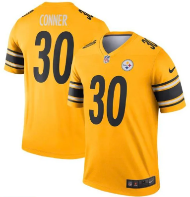 Men's Pittsburgh Steelers #30 James Conner Gold Inverted Jersey