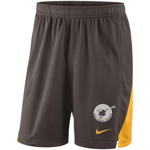 Men's San Diego Padres Nike Brown Franchise Performance Shorts