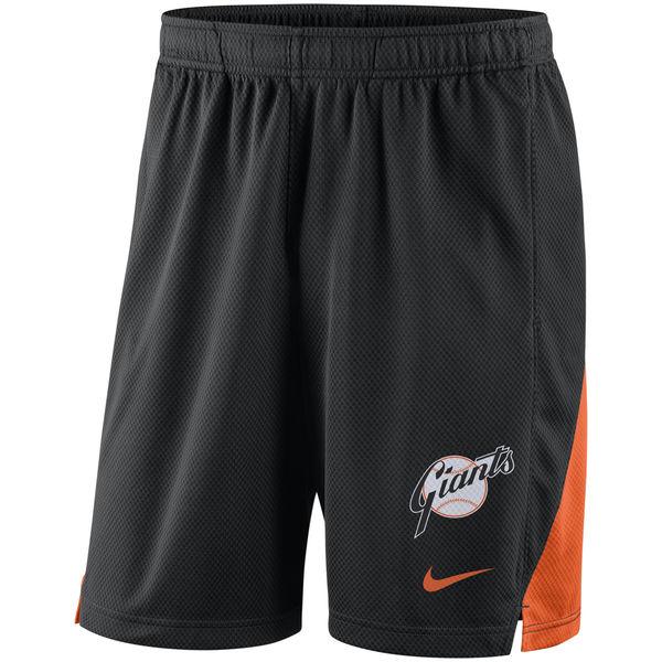 Men's San Francisco Giants Nike Black Franchise Performance Shorts