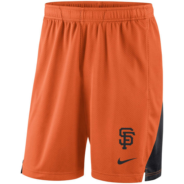 Men's San Francisco Giants Nike Orange Franchise Performance Shorts