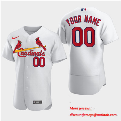 Men's St. Louis Cardinals Custom Nike White Flexbase Jersey