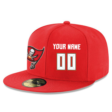 Men's Tampa Bay Buccaneers Red Color Snapback Custom Hat (Stitched any name&number)