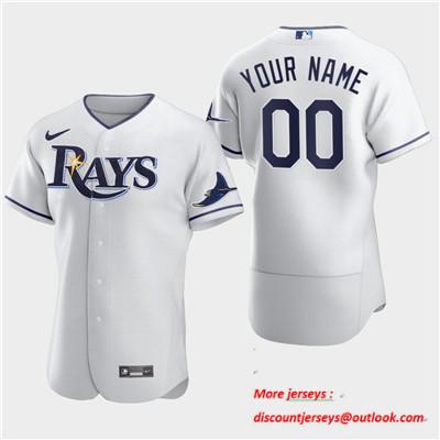 Men's Tampa Bay Rays Custom Nike Flexbase White Jersey