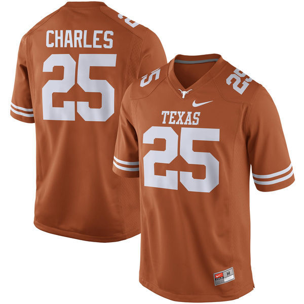 Men's Texas Longhorns 25 Jamaal Charles Orange Nike College Jersey