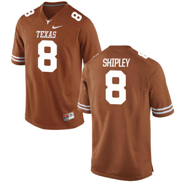 Men's Texas Longhorns 8 Jordan Shipley Orange Nike College Jersey
