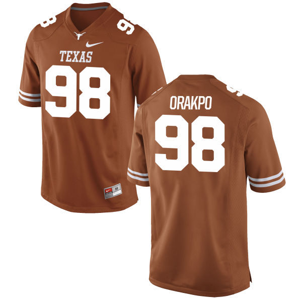 Men's Texas Longhorns 98 Brian Orakpo Orange Nike College Jersey