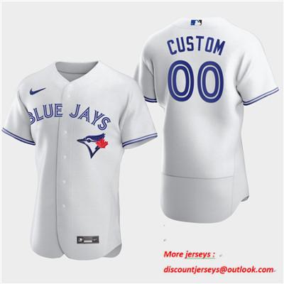 Men's Toronto Blue Jays Custom Nike White Flexbase Jersey